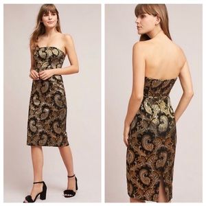 NWT 🔥Tracy Reese Strapless Jacquard Dress🔥